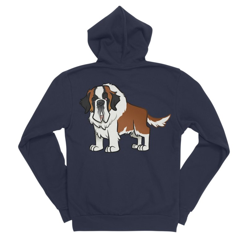 St. Bernard Men's Sponge Fleece Zip-Up Hoody by binarygod's Artist Shop