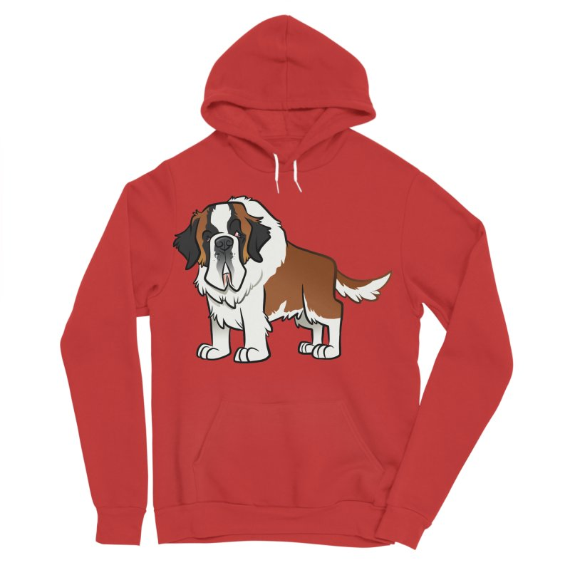 St. Bernard Men's Sponge Fleece Pullover Hoody by binarygod's Artist Shop
