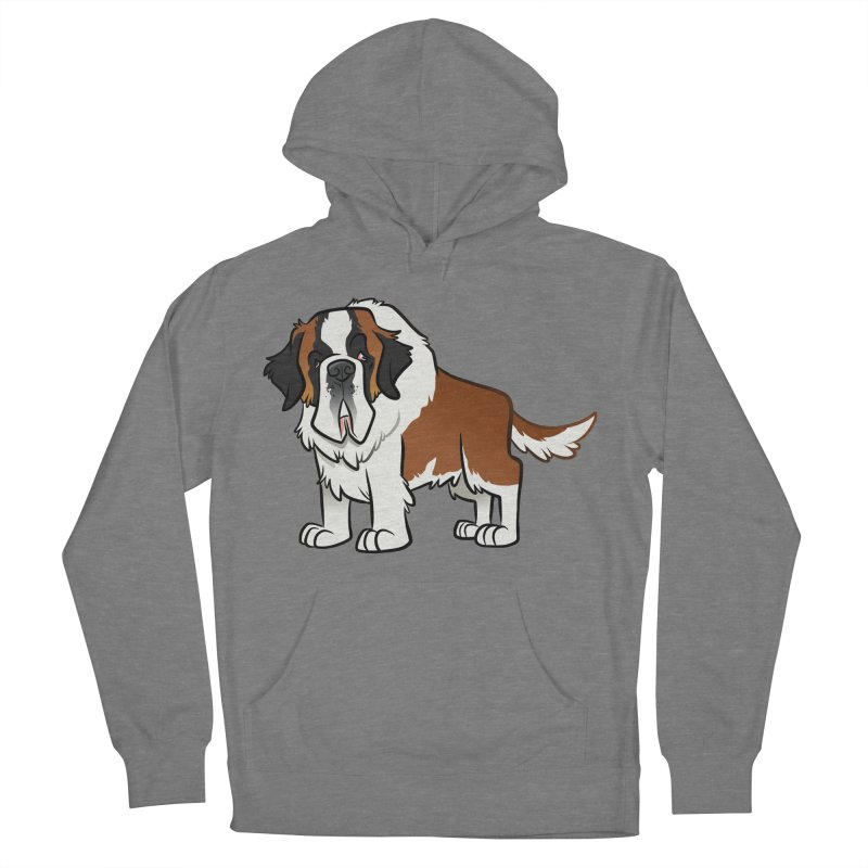 St. Bernard Women's French Terry Pullover Hoody by binarygod's Artist Shop