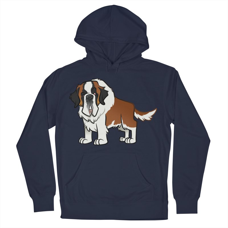 St. Bernard Men's French Terry Pullover Hoody by binarygod's Artist Shop