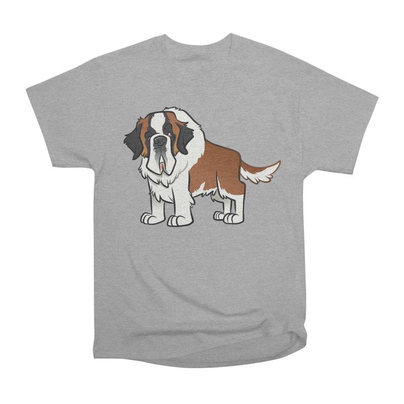 St. Bernard Men's Heavyweight T-Shirt by binarygod's Artist Shop