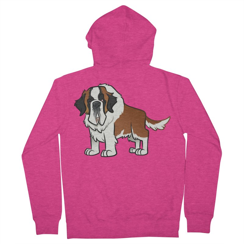 St. Bernard Women's French Terry Zip-Up Hoody by binarygod's Artist Shop