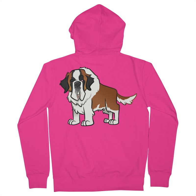 St. Bernard Men's French Terry Zip-Up Hoody by binarygod's Artist Shop