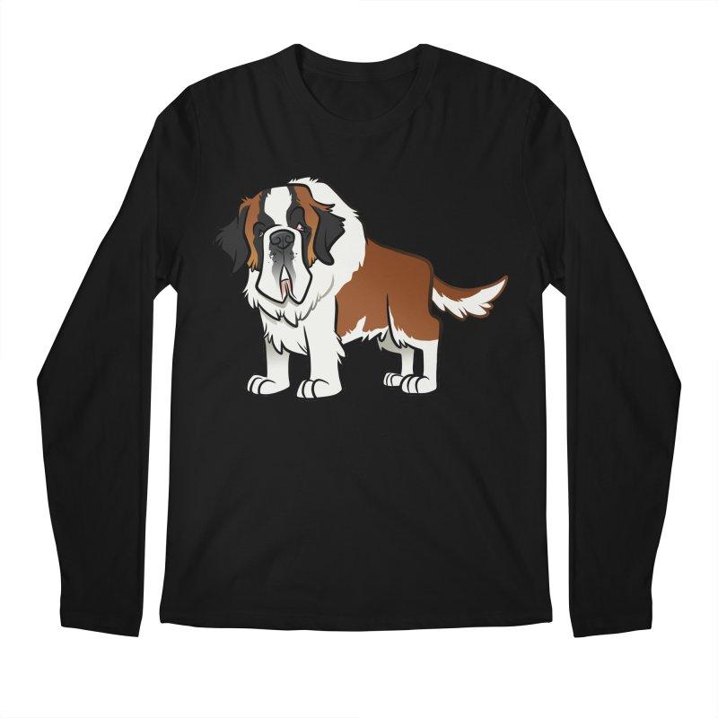 St. Bernard Men's Regular Longsleeve T-Shirt by binarygod's Artist Shop