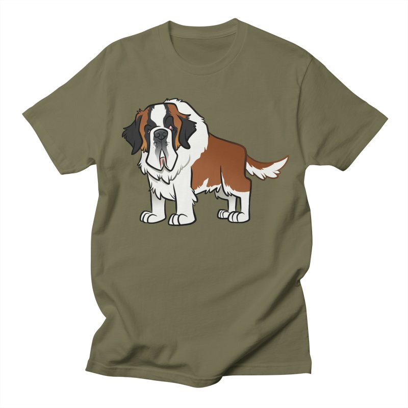 St. Bernard Women's Regular Unisex T-Shirt by binarygod's Artist Shop