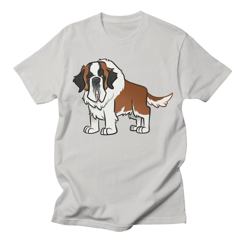 St. Bernard Men's Regular T-Shirt by binarygod's Artist Shop