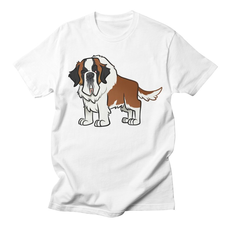 St. Bernard Men's Regular T-Shirt by binarygod's Artist Shop