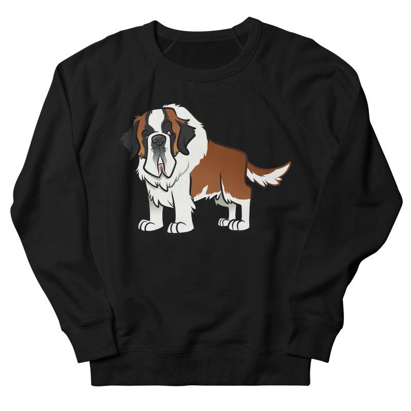 St. Bernard Men's French Terry Sweatshirt by binarygod's Artist Shop