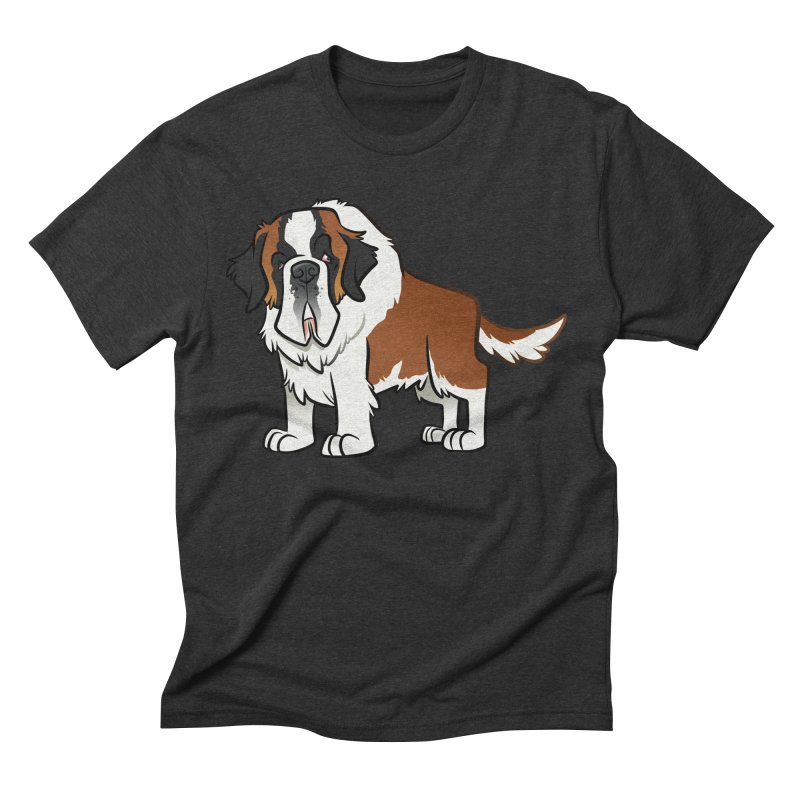 St. Bernard Men's Triblend T-Shirt by binarygod's Artist Shop