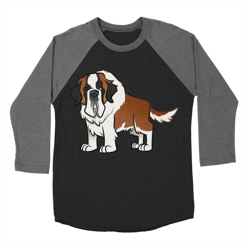 St. Bernard Women's Baseball Triblend Longsleeve T-Shirt by binarygod's Artist Shop