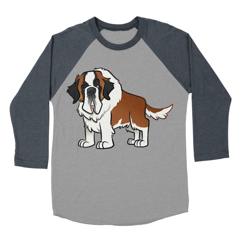 St. Bernard Men's Baseball Triblend Longsleeve T-Shirt by binarygod's Artist Shop