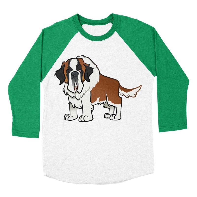St. Bernard Men's Baseball Triblend Longsleeve T-Shirt by binarygod's Artist Shop