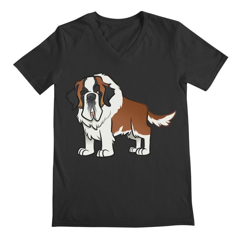 St. Bernard Men's Regular V-Neck by binarygod's Artist Shop