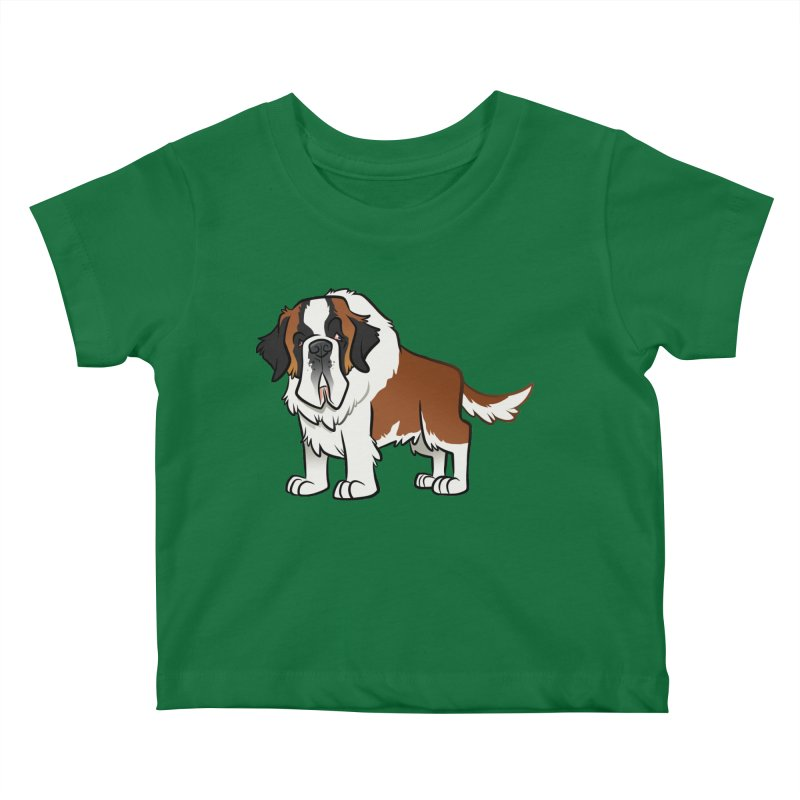 St. Bernard Kids Baby T-Shirt by binarygod's Artist Shop