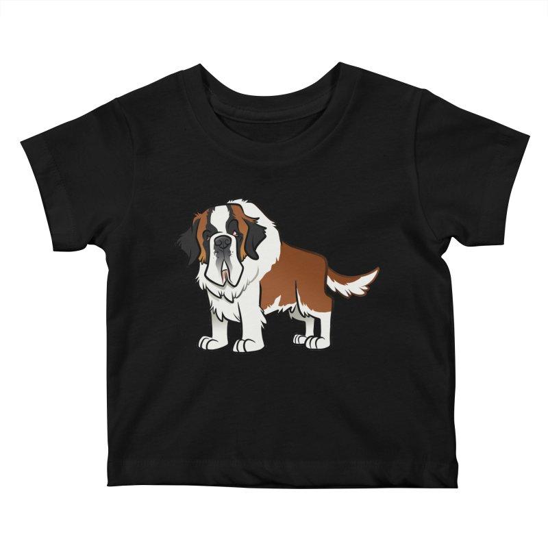 St. Bernard Kids Baby T-Shirt by binarygod's Artist Shop