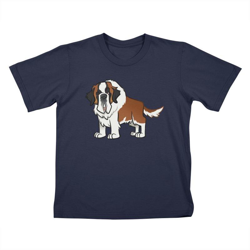 St. Bernard Kids T-Shirt by binarygod's Artist Shop