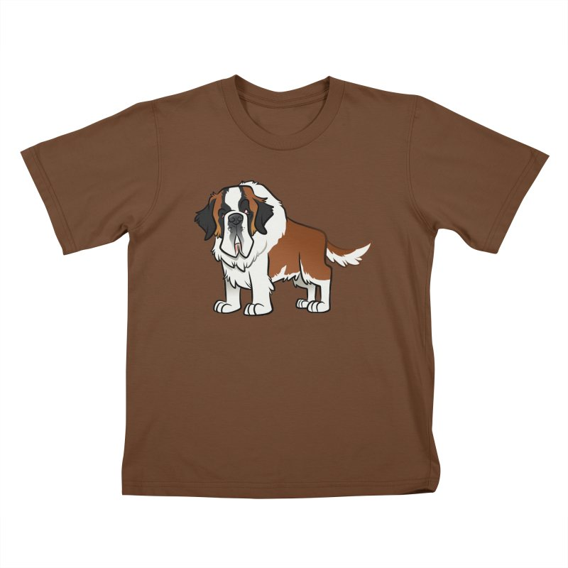 St. Bernard Kids T-Shirt by binarygod's Artist Shop