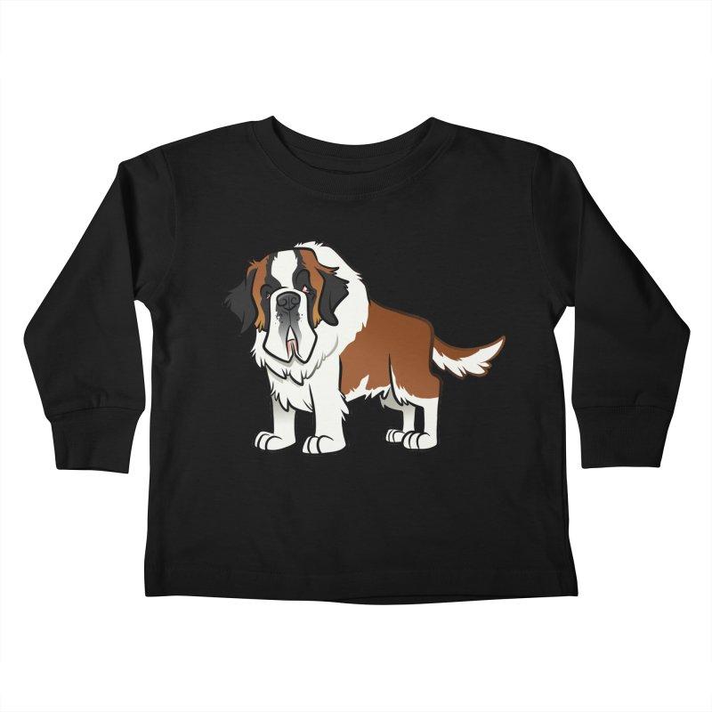 St. Bernard Kids Toddler Longsleeve T-Shirt by binarygod's Artist Shop