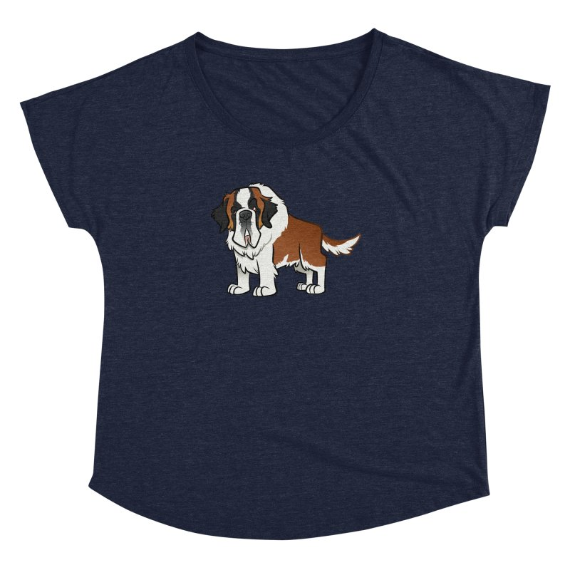 St. Bernard Women's Dolman Scoop Neck by binarygod's Artist Shop