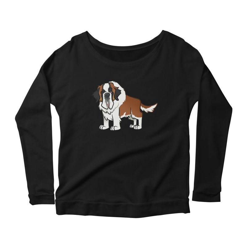St. Bernard Women's Scoop Neck Longsleeve T-Shirt by binarygod's Artist Shop