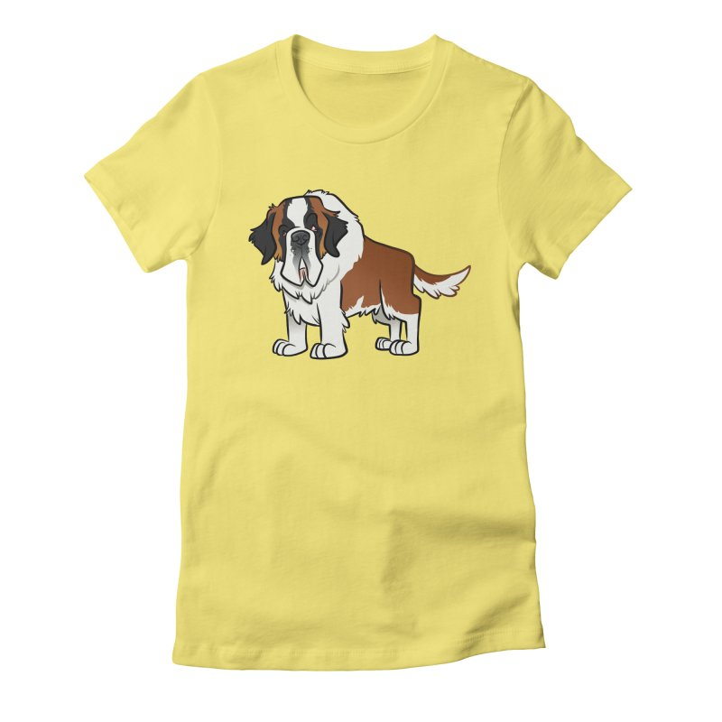 St. Bernard Women's Fitted T-Shirt by binarygod's Artist Shop