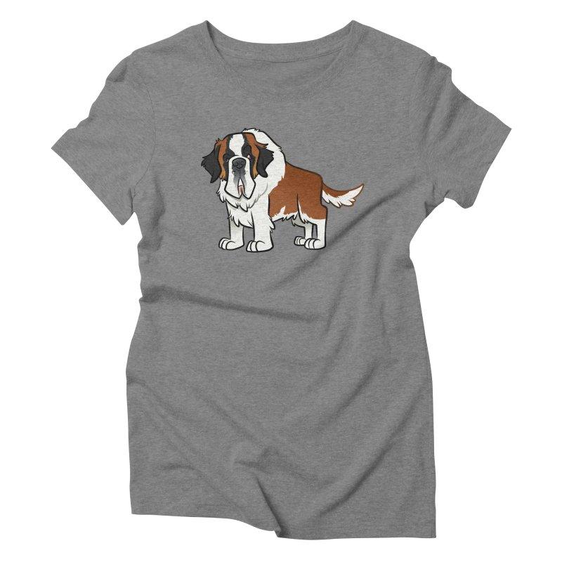 St. Bernard Women's Triblend T-Shirt by binarygod's Artist Shop