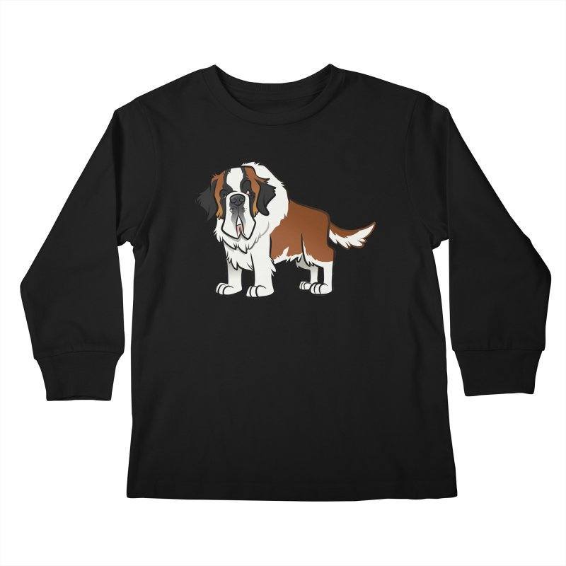 St. Bernard Kids Longsleeve T-Shirt by binarygod's Artist Shop