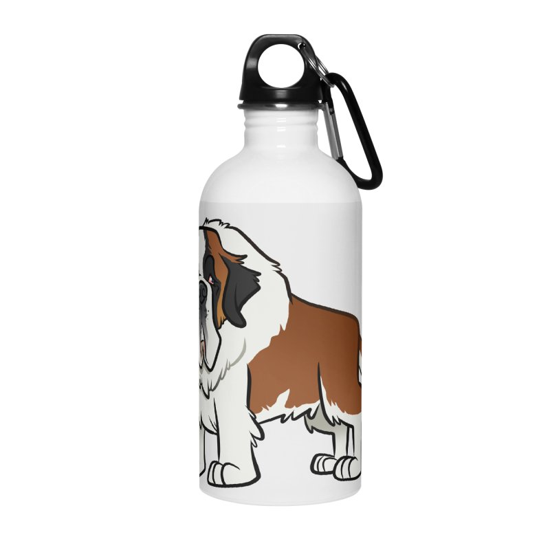 St. Bernard Accessories Water Bottle by binarygod's Artist Shop