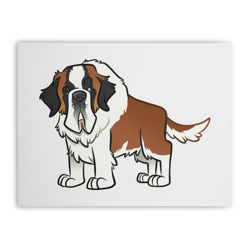 St. Bernard Home Stretched Canvas by binarygod's Artist Shop