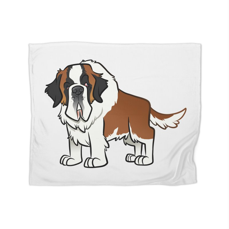 St. Bernard Home Blanket by binarygod's Artist Shop