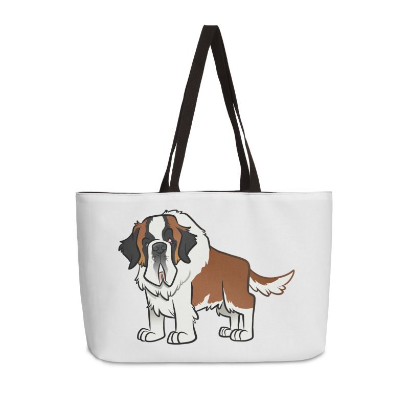 St. Bernard Accessories Weekender Bag Bag by binarygod's Artist Shop