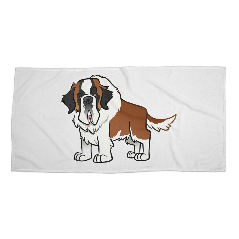 St. Bernard Accessories Beach Towel by binarygod's Artist Shop