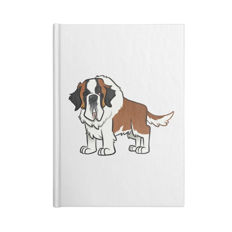 St. Bernard Accessories Lined Journal Notebook by binarygod's Artist Shop