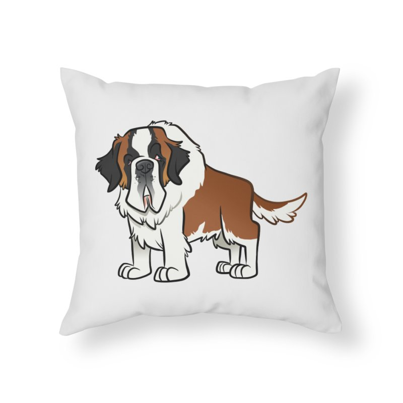 St. Bernard Home Throw Pillow by binarygod's Artist Shop