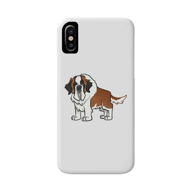 St. Bernard Accessories Phone Case by binarygod's Artist Shop