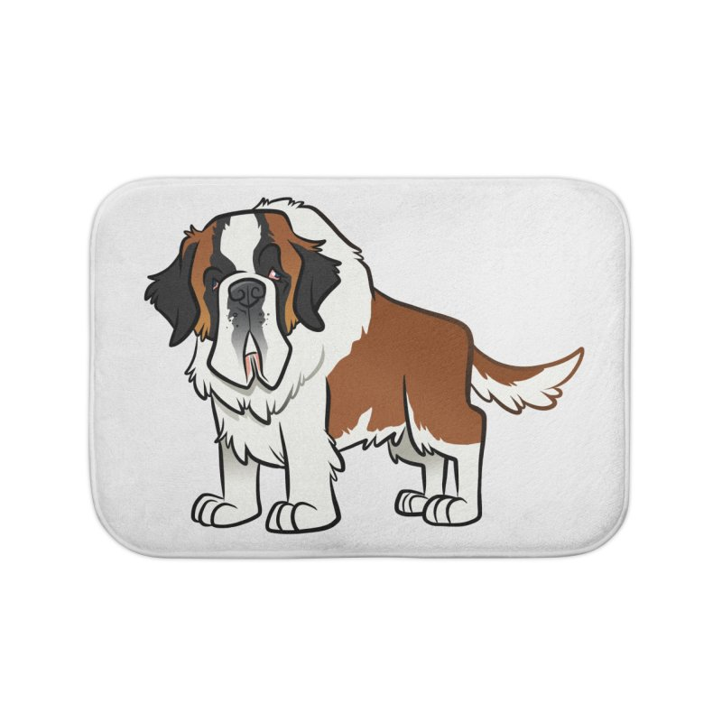 St. Bernard Home Bath Mat by binarygod's Artist Shop