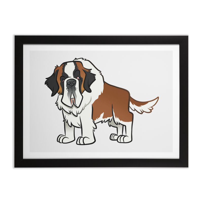 St. Bernard Home Framed Fine Art Print by binarygod's Artist Shop