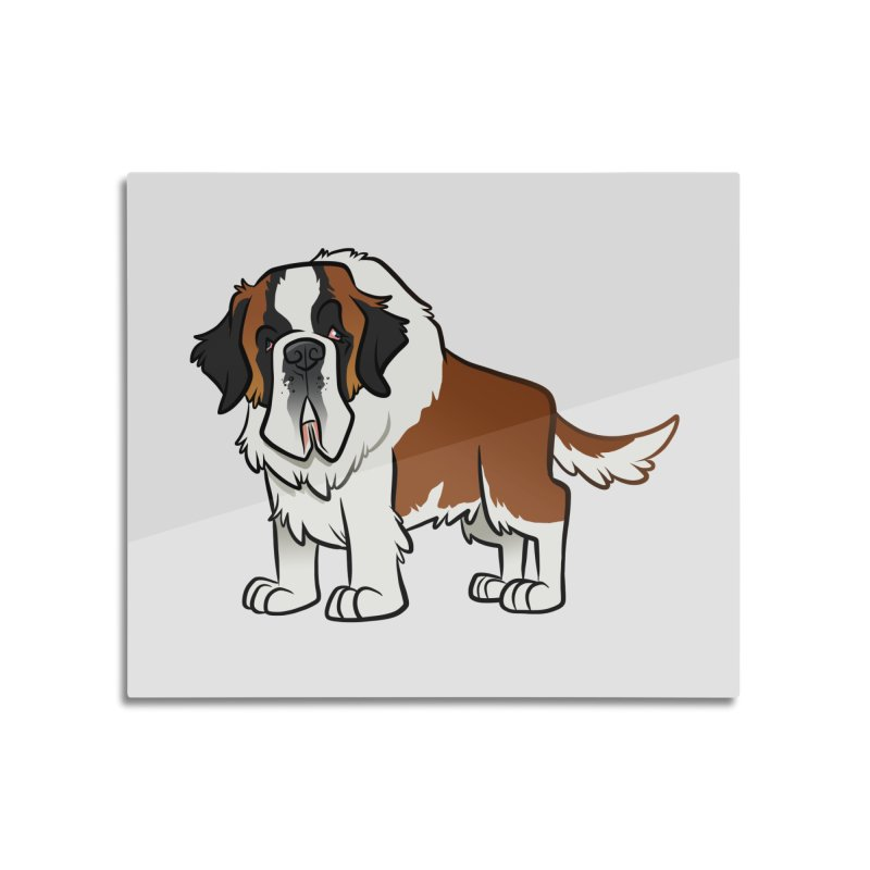 St. Bernard Home Mounted Acrylic Print by binarygod's Artist Shop