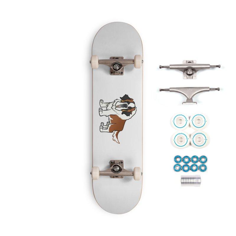 St. Bernard Accessories Complete - Basic Skateboard by binarygod's Artist Shop