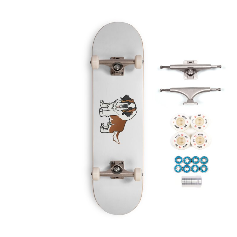 St. Bernard Accessories Complete - Premium Skateboard by binarygod's Artist Shop