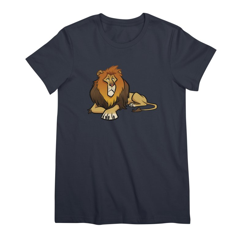 Lion Women's Premium T-Shirt by binarygod's Artist Shop