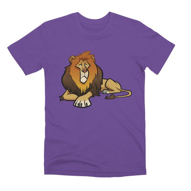 Lion Men's Premium T-Shirt by binarygod's Artist Shop