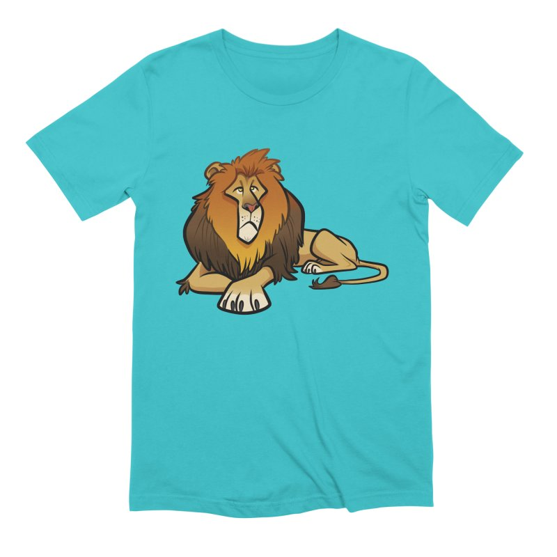 Lion Men's Extra Soft T-Shirt by binarygod's Artist Shop