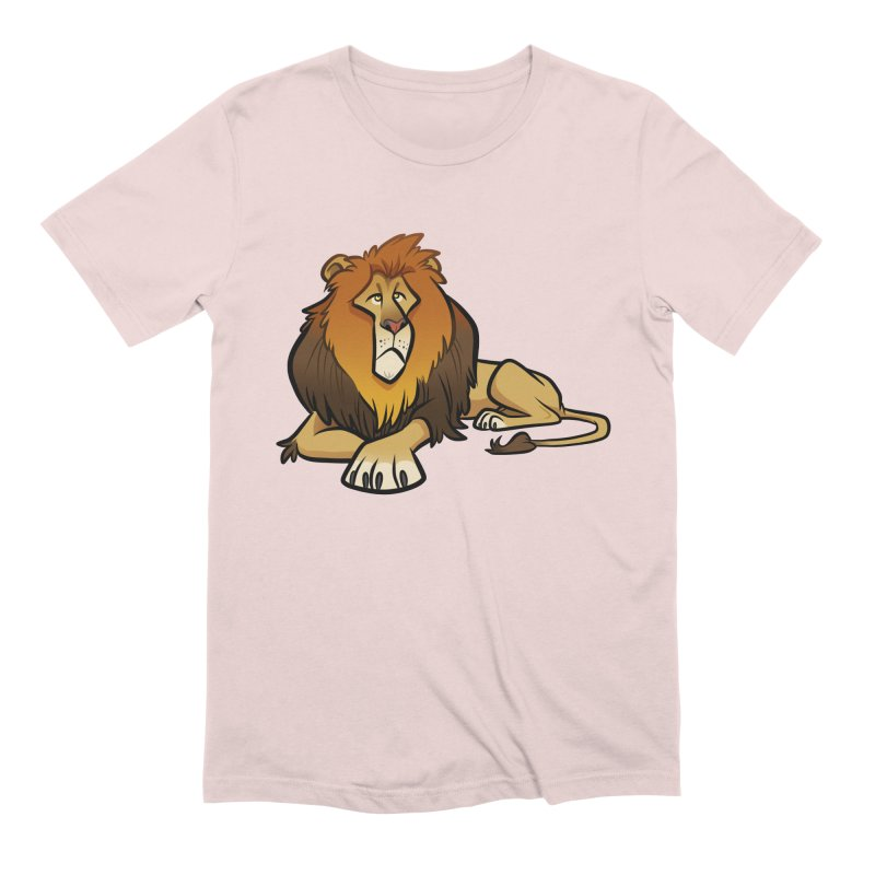 Lion Men's Extra Soft T-Shirt by binarygod's Artist Shop