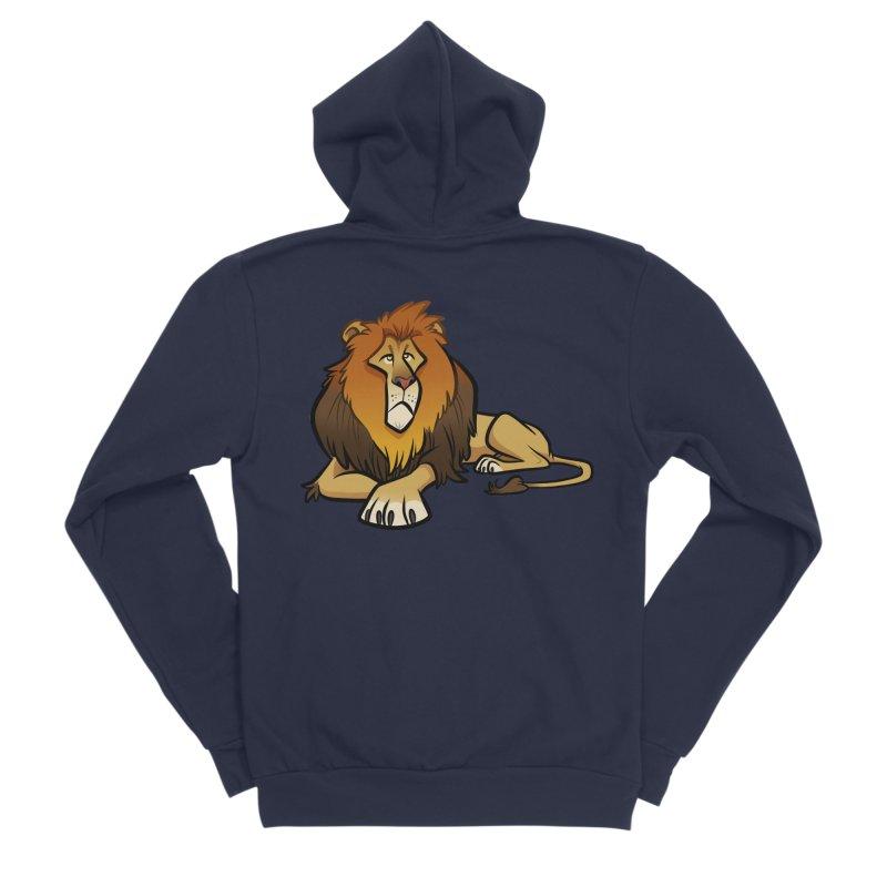 Lion Women's Sponge Fleece Zip-Up Hoody by binarygod's Artist Shop