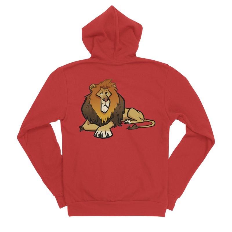 Lion Women's Zip-Up Hoody by binarygod's Artist Shop