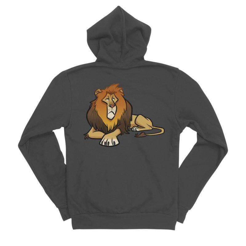 Lion Men's Sponge Fleece Zip-Up Hoody by binarygod's Artist Shop
