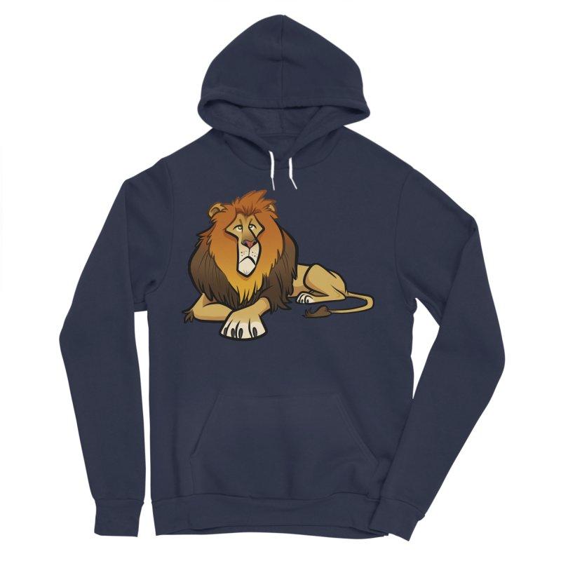 Lion Men's Sponge Fleece Pullover Hoody by binarygod's Artist Shop