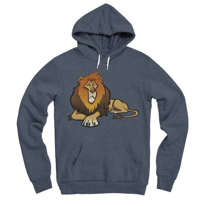 Lion Men's Sponge Fleece Pullover Hoody by binarygod's Artist Shop