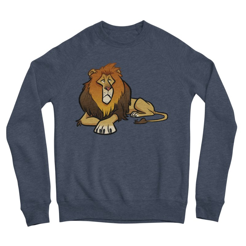 Lion Men's Sponge Fleece Sweatshirt by binarygod's Artist Shop